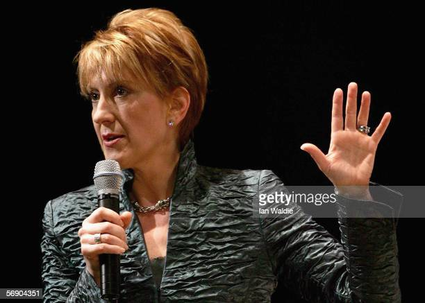 Carly Fiorina CEO of Hewlett Packard from 19842005 delivers an address to the Global Business Forum February 22 2006 in Sydney Australia The forum's...