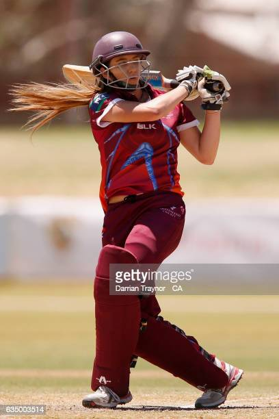 Carly Fuller of Queensland bats during the National Indigenous Cricket Championships Final between New South Wales and Queensland on February 13 2017...