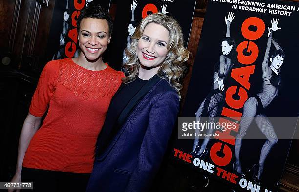 Carly Hughes and Jennifer Nettles join Broadway's Chicago After Party at Hurley's Saloon on February 3 2015 in New York City