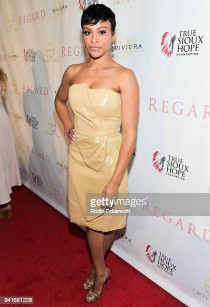 Carly Hughes at Regard Magazine Spring 2018 Cover Unveiling Party presented by Sony Studios featuring the cast of 'The Oath' on Crackle at Riviera 31...