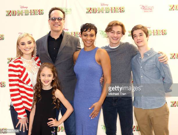 Carly Hughes Diedrich Bader Meg Donnelly Julia Butters Logan Pepper and Daniel DiMaggio attends the Los Angeles premiere for Disney Channel's...