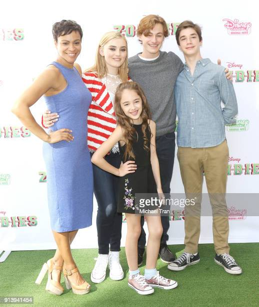 Carly Hughes Meg Donnelly Julia Butters Logan Pepper and Daniel DiMaggio attend the Los Angeles premiere for Disney Channel's 'Zombies' held at Walt...