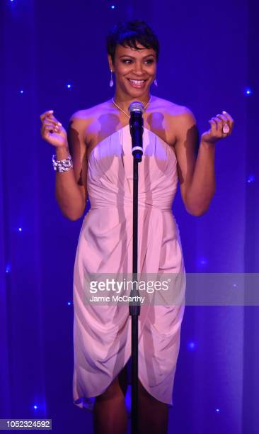 Carly Hughes speaks on stage during the 2018 Princess Grace Awards Gala at Cipriani 25 Broadway on October 16 2018 in New York City