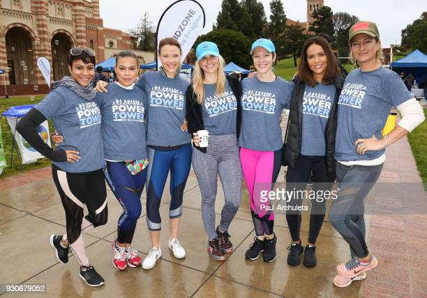 Carly Hughes Toni Trucks Scottie Thompson Brooke Ansley Erin Cummings Lesley Ann Brandt and Zoe Bell attends the 'Power Of Tower' run/walk at UCLA on...