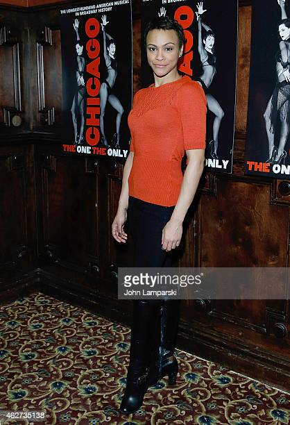 Carly Hughesattends the after party to celebrate Jennifer Nettles Carly Hughes join Broadway's Chicago After Party at Hurley's Saloon on February 3...