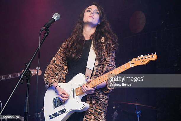 Carly Humphries of Battle Lines performs on stage at Brudenell Social Club on October 29 2014 in Leeds United Kingdom