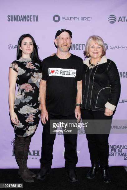 Carly Jean Ingersoll Steve Woody Culleton Michelle John attend the Rebuilding Paradise premiere during the 2020 Sundance Film Festival at Prospector...