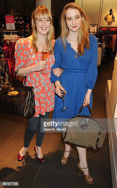 Carly Lawson and Daisy de Villeneuve attend the launch party for Matthew Williamson's new collection for HM at HM Regent Street on April 22 2009 in...