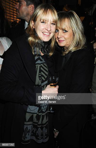 Carly Lawson and Twiggy attend the Stella McCartney Christmas party as the Stella McCartney Store switches on its Christmas lights on November 23...