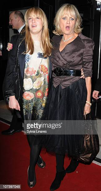 Carly Lawson and Twiggy attends The British Fashion Awards held at The Savoy Hotel on December 7 2010 in London England