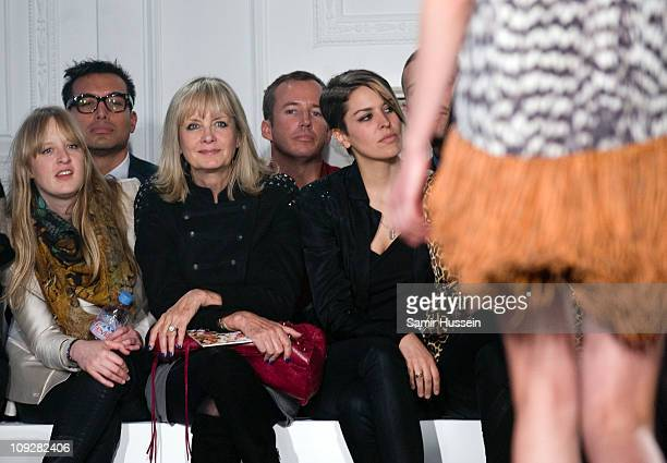 Carly Lawson and Twiggy Lawson attend the Sass Bide London Fashion Week Autumn/Winter 2011 show at Il Bottaccio on February 18 2011 in London England