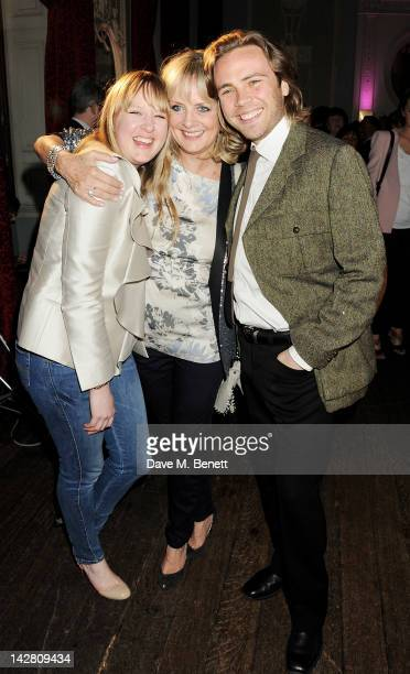Carly Lawson Twiggy and Ace Lawson attend a party celebrating the launch of Twiggy For MS Women at Home House on April 12 2012 in London England