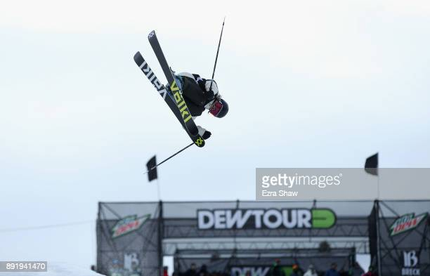 Carly Margulies competes in the women's Ski Superpipe qualification during Day 1 of the Dew Tour on December 13 2017 in Breckenridge Colorado