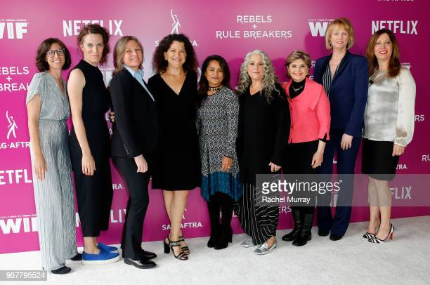 Carly Mensch Liz Flahive Cindy Holland Debra BirnBaum Veena Sud Marta Kauffman Gloria Allred Melissa Rosenberg and Kirsten Schaffer attend the Rebels...