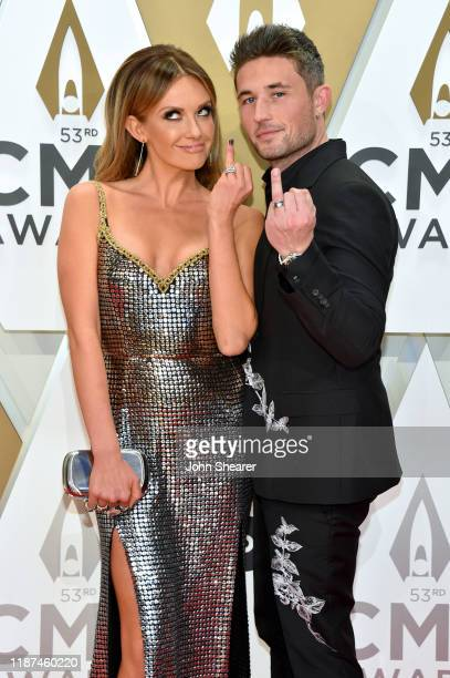 Carly Pearce and Michael Ray attend the 53rd annual CMA Awards at the Music City Center on November 13 2019 in Nashville Tennessee