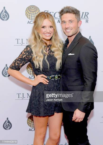 Carly Pearce and Michael Ray attend The TJ Martell Foundation Nashville Best Cellars 2019 at the Loews Vanderbilt Hotel on April 22 2019 in Nashville...
