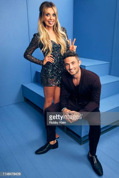 Carly Pearce and Michael Ray pose for a portrait during the 2019 CMT Music Awards at Bridgestone Arena on June 5 2019 in Nashville Tennessee