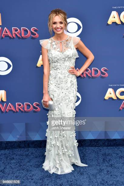 Carly Pearce attends the 53rd Academy of Country Music Awards at MGM Grand Garden Arena on April 15 2018 in Las Vegas Nevada