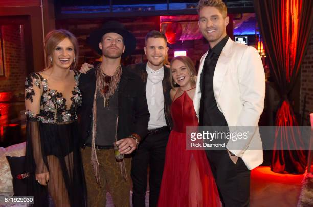 Carly Pearce Drake White Trent Harmon Danielle Bradbery and Brett Young attend Big Machine Label Group's celebration of the 51st Annual CMA Awards at...