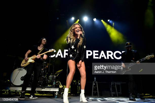 """Carly Pearce performs at THE NIGHT BEFORE"""" a RADIOCOM Event on February 1 2020 in South Florida"""