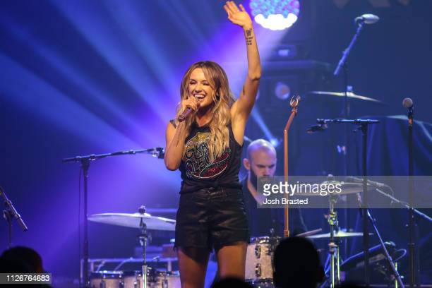 Carly Pearce performs at the Texas Club as part of the 'The Way Back Tour' on February 21 2019 in Baton Rouge Louisiana