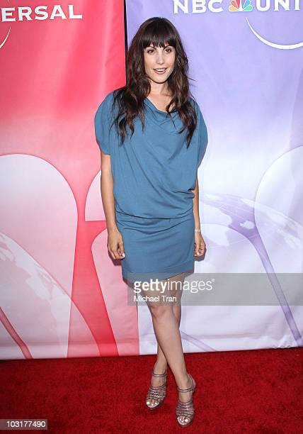Carly Pope arrives to the NBC Universal Press Tour AllStar Party held at The Beverly Hilton hotel on July 30 2010 in Beverly Hills California