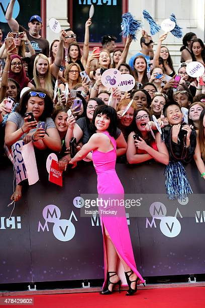 Carly Rae Jepsen arrives at the 2015 Much Music Video Awards on June 21 2015 in Toronto Canada