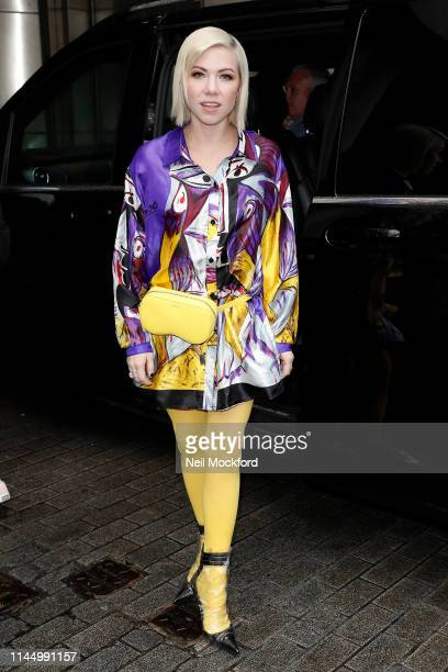 Carly Rae Jepsen arriving at BBC Radio One Live Lounge on April 25 2019 in London England
