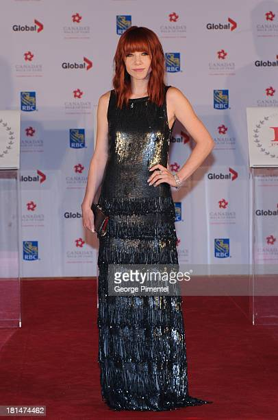 Carly Rae Jepsen attends Canada's Walk Of Fame Ceremony at The Elgin on September 21 2013 in Toronto Canada