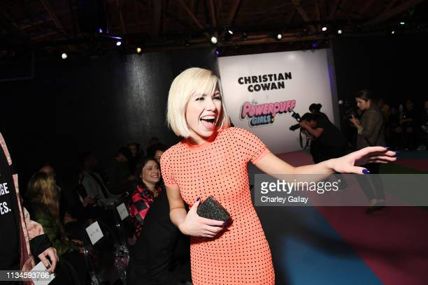 Carly Rae Jepsen attends Christian Cowan x The Powerpuff Girls Runway Show at City Market Social House on March 08 2019 in Los Angeles California