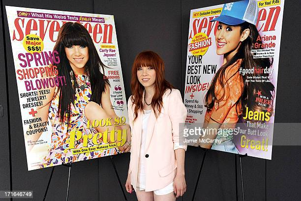 Carly Rae Jepsen attends Seventeen Magazine Luncheon Honoring 'Pretty Amazing' Finalists at Hearst Tower on June 27 2013 in New York City