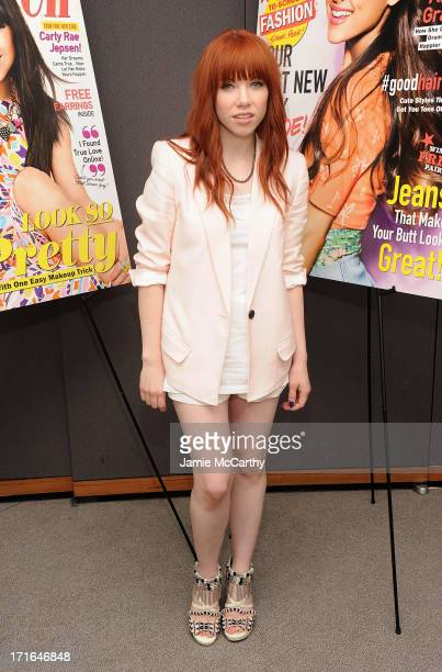 """Carly Rae Jepsen attends Seventeen Magazine Luncheon Honoring """"Pretty Amazing"""" Finalists at Hearst Tower on June 27, 2013 in New York City."""