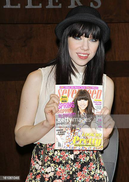 Carly Rae Jepsen attends Seventeen's Magazine signing and pretty amazing casting call held at Barnes Noble bookstore at The Grove on February 8 2013...