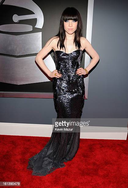 Carly Rae Jepsen attends the 55th Annual GRAMMY Awards at STAPLES Center on February 10 2013 in Los Angeles California