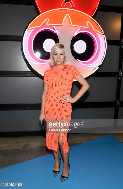 Carly Rae Jepsen attends the Christian Cowan x The Powerpuff Girls fashion show at City Market Social House on March 08 2019 in Los Angeles California