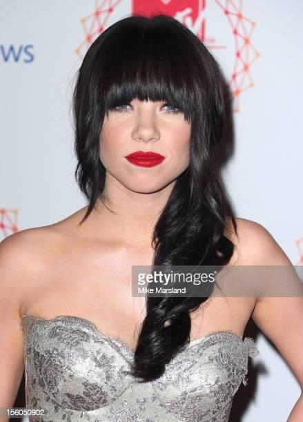 Carly Rae Jepsen attends the MTV EMA's 2012 at Festhalle Frankfurt on November 11, 2012 in Frankfurt am Main, Germany.