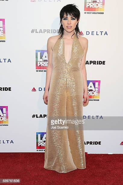 Carly Rae Jepsen attends the LA PRIDE Music Festival And Parade 2016 on June 10 2016 in West Hollywood California