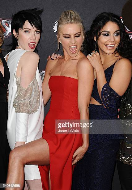Carly Rae Jepsen Julianne Hough and Vanessa Hudgens attend the For Your Consideration event for FOX's 'Grease Live' at Paramount Studios on June 15...
