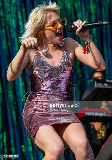 Carly Rae Jepsen peforms on day three of Lollapalooza at Grant Park on August 4 2018 in Chicago Illinois