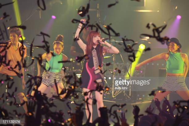 Carly Rae Jepsen perfoms onstage during the MTV VMAJ 2013 at Makuhari Messe on June 22 2013 in Chiba Japan