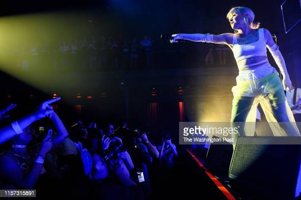 Carly Rae Jepsen performs at a sold out show at The Fillmore Silver Spring Sunday evening