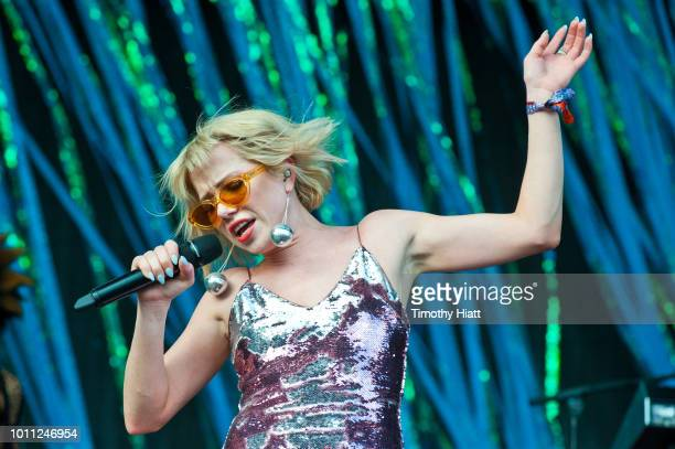 Carly Rae Jepsen performs at Lollapalooza at Grant Park on August 4 2018 in Chicago Illinois