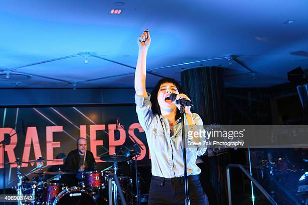 Carly Rae Jepsen performs at Macy's Herald Square on November 12 2015 in New York City