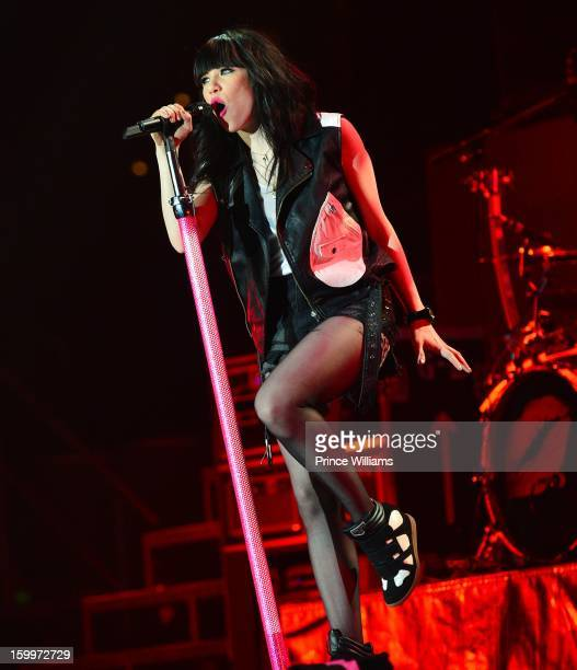 Carly Rae Jepsen performs at the Philips Arena on January 23 2013 in Atlanta Georgia