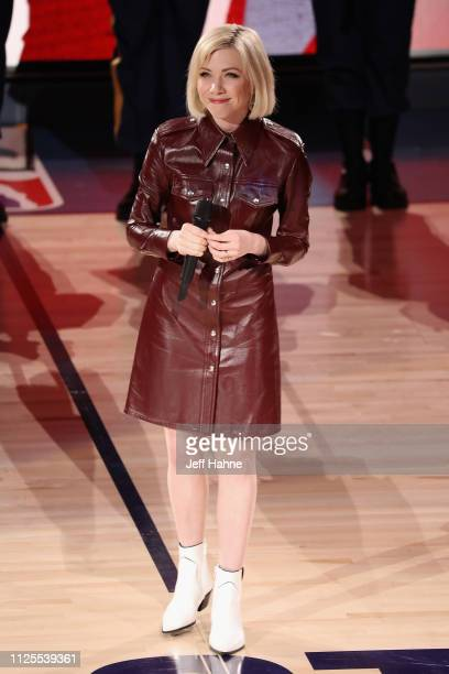 Carly Rae Jepsen performs during the 68th NBA AllStar Game at Spectrum Center on February 17 2019 in Charlotte North Carolina