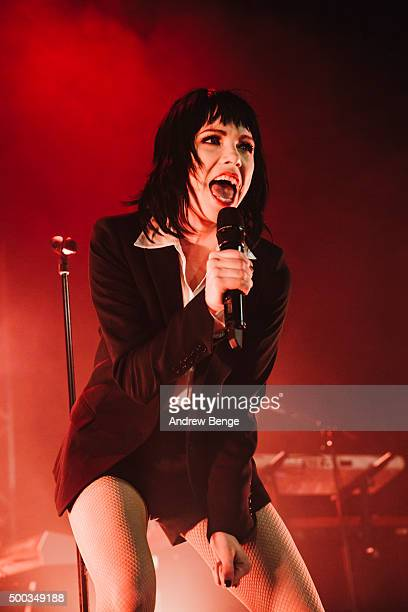 Carly Rae Jepsen performs on stage at Islington Assembly Hall on December 7, 2015 in London, England.