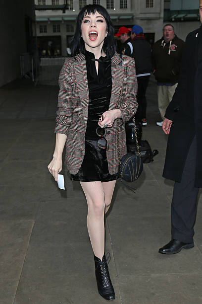 a1d3e2f42bbf2 Carly Rae Jepsen seen arriving at BBC Radio One on December 7