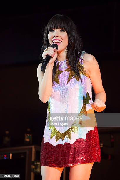 Carly Rae Jepson celebrates her birthday and performs in concert at The Palace of Auburn Hills on November 21 2012 in Auburn Hills Michigan