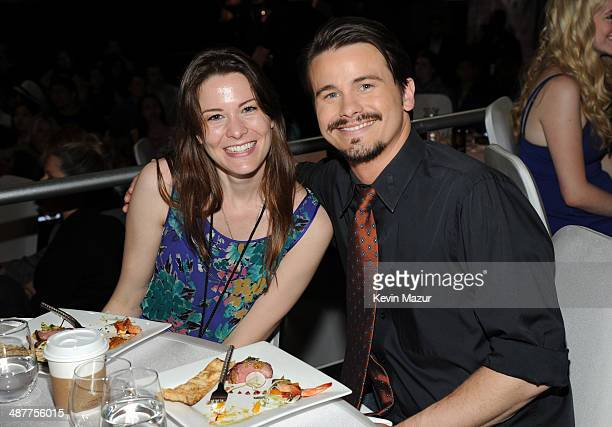 Carly Ritter and her brother actor Jason Ritter in the audience at the 2014 iHeartRadio Music Awards held at The Shrine Auditorium on May 1 2014 in...