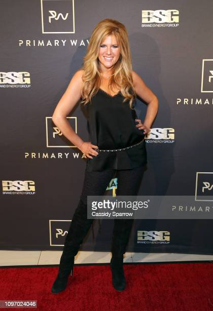 Carly Robyn Green attends Primary Wave 13th Annual PreGRAMMY Bash at The London West Hollywood on February 9 2019 in West Hollywood California